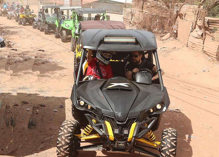 Los carritos SXS también participaron en Lo Más Extremo.