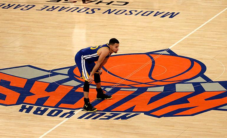 Stephen Curry, el rey de las pistas en la NBA.